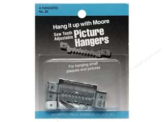 Hangers Framing: Moore Picture Hangers Saw Tooth with Nails Large 4pc (3 packages)