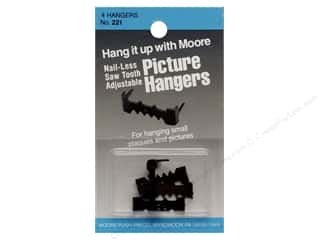 Moore Picture Hangers Saw Tooth with out Nails 4pc (3 packages)