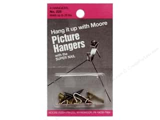 Moore: Moore Picture Hangers with Super Nail 20lb 4pc