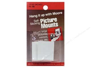 "Moore: Moore Picture Mounts Self Stick Tabs 8-1 1/4""x 1"""