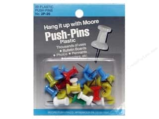 Push Pins Art, School & Office: Moore Push-Pin Plastic Head 20 pc Assorted Regular