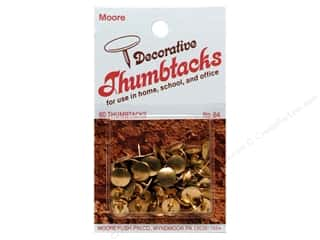 Tacks Craft & Hobbies: Moore Thumb Tack Decorative Brass 60 pc