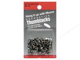 Back To School Art, School & Office: Moore Thumb Tack Decorative Nickel 60 pc