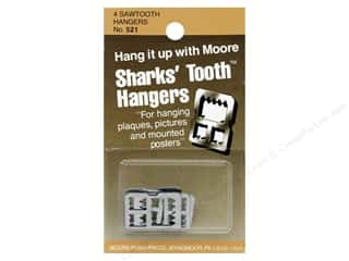 Moore: Moore Sharks' Tooth Hangers Saw Tooth 4 pc (3 packages)