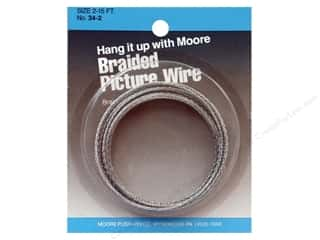 School Length: Moore Braided Picture Wire 12 Strand 15'