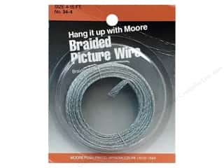 School Length: Moore Braided Picture Wire 20 Strand 15'