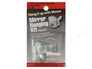 Plastics Art, School & Office: Moore Mirror Hangers Kit Plastic