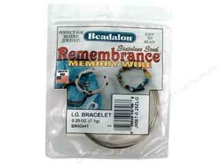 beadalon steel wire: Beadalon Memory Wire Large Bracelet Bright .25 oz.