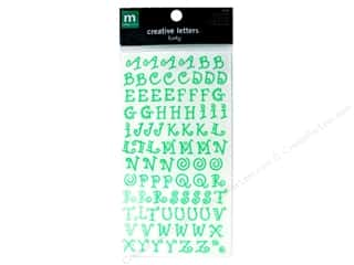 "Making Memories Stickers Alpha 7/16"" Funky Key Lime"
