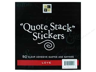 DieCuts Sticker Quote Stack 10pc Love