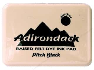 Inks $0 - $4: Ranger Adirondack #0 Dye Ink Pad Pitch Black