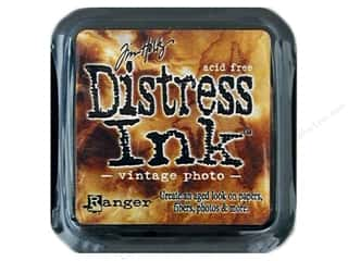 Rubber Stamping Height: Tim Holtz Distress Ink Pad by Ranger Vintage Photo