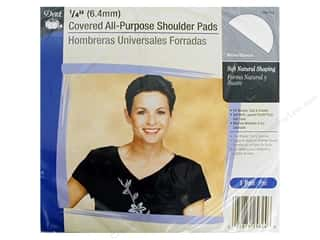 "Dritz Shoulder Pads Covered Set-In 1/4"" White"