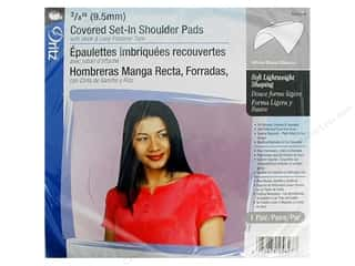 Shoulder Pads: Covered Set-In Shoulder Pads by Dritz White