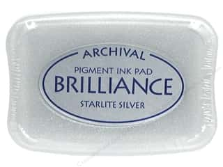 Sculpey $2 - $4: Tsukineko Brilliance Large Stamp Pad Starlite Silver