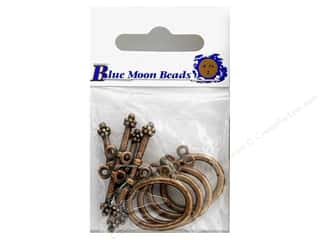 Blue Moon Clasps Toggle Round Double Copper 4 sets