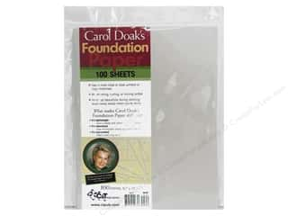 Sublime Stitching Quilting Notions: C&T Publishing Carol Doak's Foundation Paper 8 1/2 x 11 in. 100 pc.
