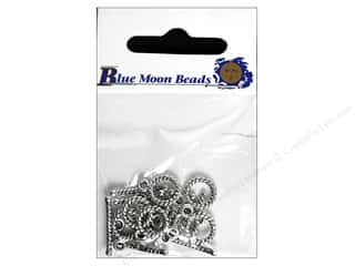 Blue Moon Beads Cream/Natural: Blue Moon Beads Tiny Toggle Clasps 9 pc. Silver Plated