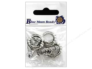 Beads $3 - $4: Blue Moon Beads Large Toggle Clasps 3 pc. Silver Plated