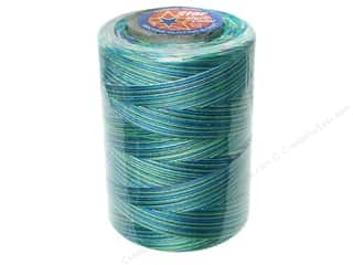 Coats &amp; Clark Star Variegated Mercerized Cotton Quilting Thread 1200 yd. Caribbean Sea