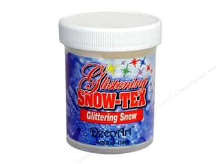 Resin, Ceramics, Plaster Clay & Modeling: DecoArt Snow-Tex Glistening Glitter Snow 4oz