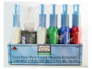 Gallery Glass Window Color Paint Set Primary Colors