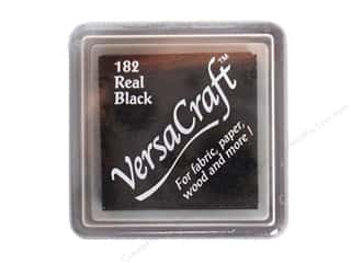 Tsukineko VersaCraft Small Stamp Pad Real Black