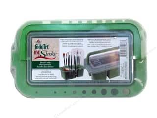 caddy: Plaid One Stroke Brush Caddy