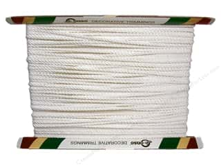 "Conso Conso Princess Twisted Cord 3/8"": Conso Princess Twisted Cord 3/16""  White (36 yards)"