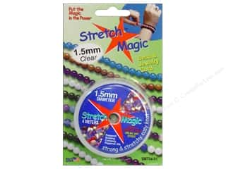 Elastic Clear: Stretch Magic Beading Cord 1.5mm x 13 ft. Clear