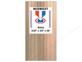 Wood Midwest Balsa Wood: Midwest Balsa Wood Strips 3/32 x 3/8 x 36 in. (20 pieces)