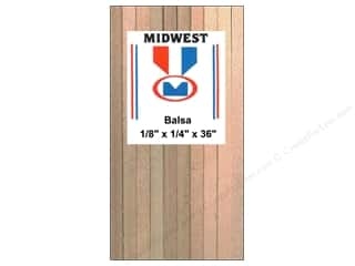 Wood Midwest Balsa Wood: Midwest Balsa Wood Strips 1/8 x 1/4 x 36 in. (30 pieces)