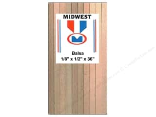 Wood Midwest Balsa Wood: Midwest Balsa Wood Strips 1/8 x 1/2 x 36 in. (15 pieces)