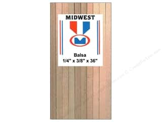 Midwest Products Company Wood Strips: Midwest Balsa Wood Strips 1/4 x 3/8 x 36 in. (15 pieces)