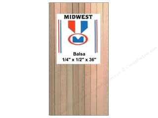 Midwest Products Company Wood Strips: Midwest Balsa Wood Strips 1/4 x 1/2 x 36 in. (12 pieces)