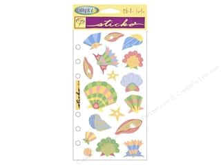 EK Cathy B Sticker Vellum Softly Seashells