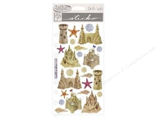 Clearance Blumenthal Favorite Findings: EK Sticko Stickers Vellum Sandcastles