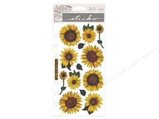 Theme Stickers / Collection Stickers: EK Sticko Stickers Vellum Sunflowers