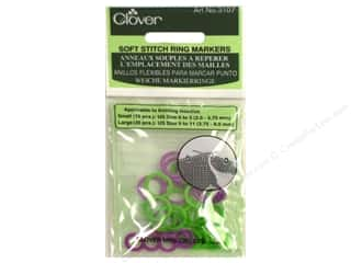 Clover Stitch Markers Soft Ring 30pc