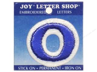 "Sports Joy Letter Shop Iron On Blue: Joy Lettershop Iron-On Number ""0"" Embroidered 1 1/2 in. Blue"