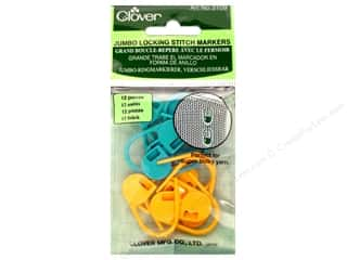 Weekly Specials Knitting: Clover Stitch Markers Locking Jumbo 12pc