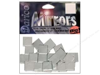 Darice Mirrors Big Value Square .5&quot; 25pc