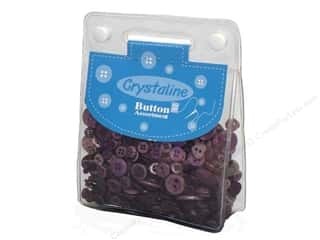 Sew-on Buttons: Dara Crystaline Button Assortment Purple