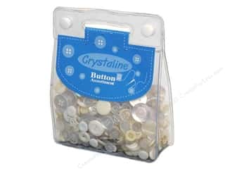 Buttons Hot: Dara Crystaline Button Assortment White