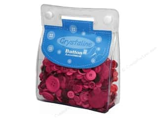 Scrapbooking & Paper Crafts: Dara Crystaline Button Assortment Dark Pink
