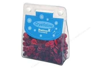 Scrapbooking & Paper Crafts: Dara Crystaline Button Assortment Dark Red