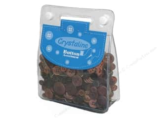 Dara Crystaline Button Assortment Brown