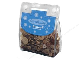 Dara Inc. Brown: Dara Crystaline Button Assortment Beige