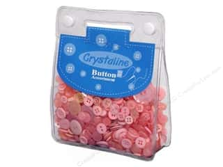 Scrapbooking & Paper Crafts: Dara Crystaline Button Assortment Light Pink