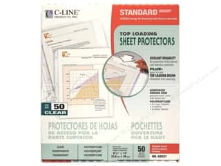 Clear Scraps Back To School: C-Line Sheet Protector 8 1/2 x11 in. Top Load Clear (50 pieces)